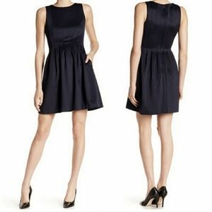 Vince Camuto Pleated Black Fit & Flare